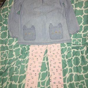 Cat top & leggings set